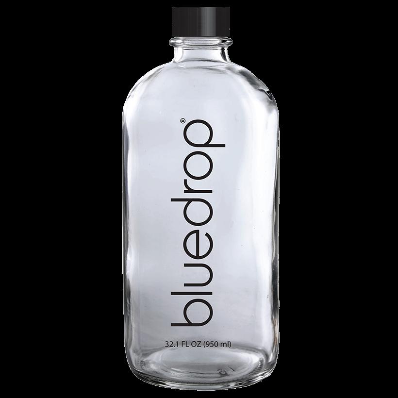A bluedrop water custom bottle