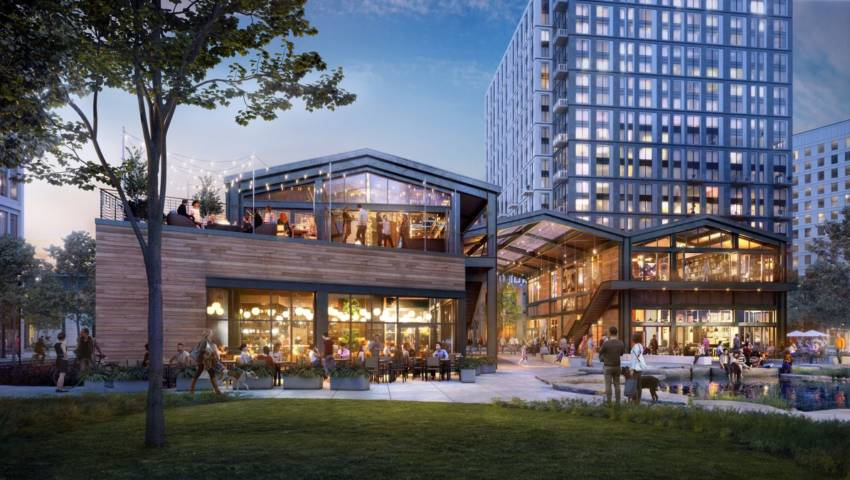 A rendering of the lexington location at cambridge crossing.
