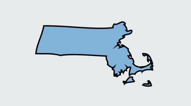 Massachusetts state outline