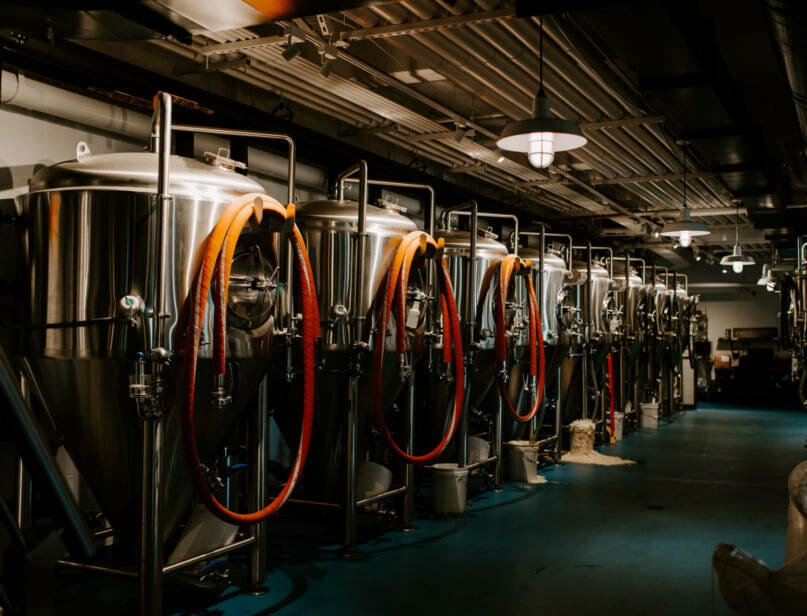 Brewery filtration equipment by bluedrop water.