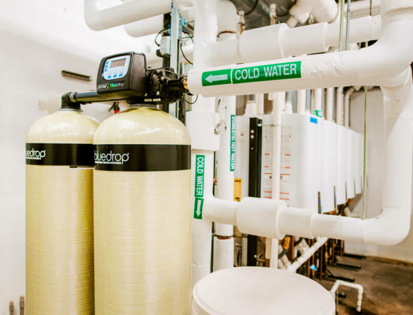 Commercial water softener system.