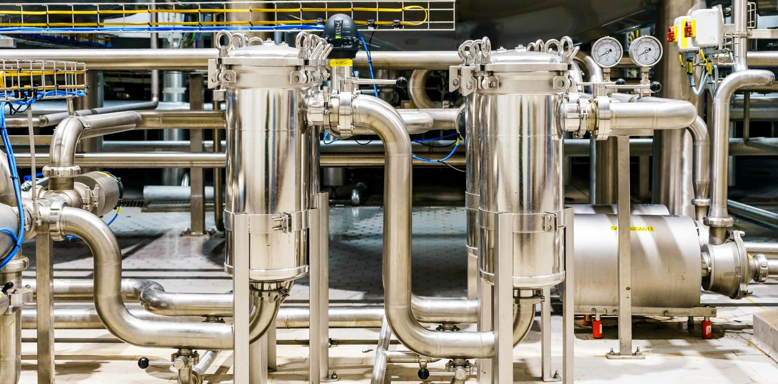 Filtration system in a commercial & industrial setting.