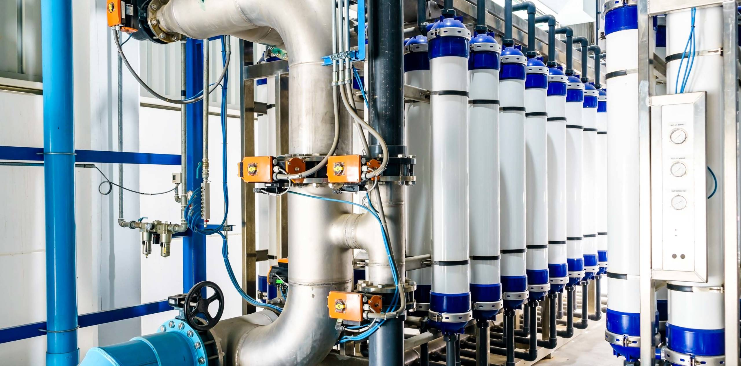 Osmosis systems in a commercial and industrial setting.