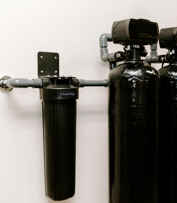 A residential whole home filtration system.