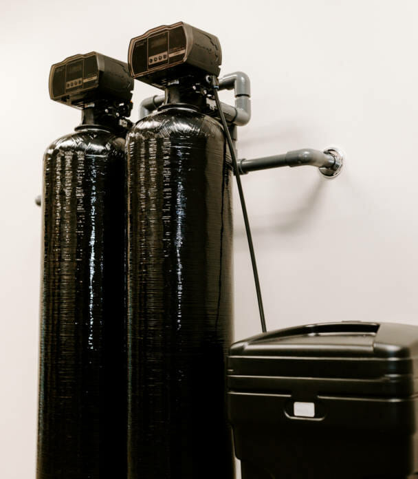 Residential water softening system.